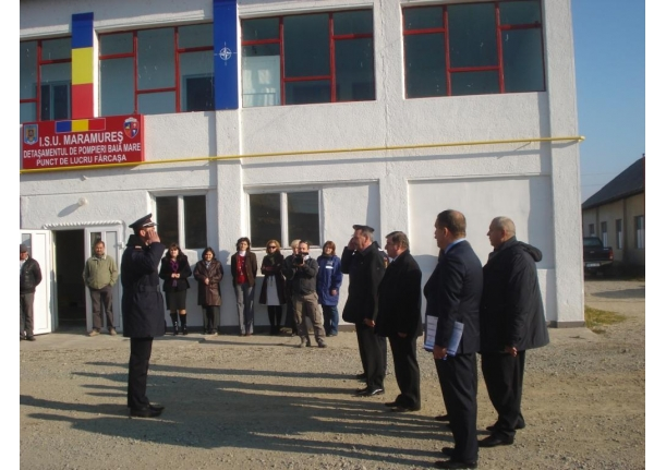 Festivitatea donării unui autoturism pentru detașamentul ISU punct de lucru Fărcașa