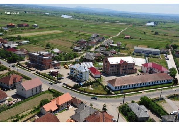 Comuna Fărcașa văzută de la înălțime