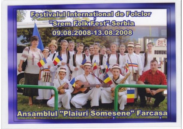 """Ansamblul """"Plaiuri Someșene"""" în Serbia"""